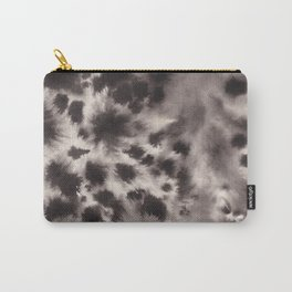 Black and White Tie Dye Ink Wash Carry-All Pouch