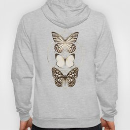 butterflies and gold geometry Hoody