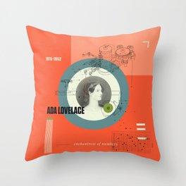 Beyond Curie: Ada Lovelace Throw Pillow