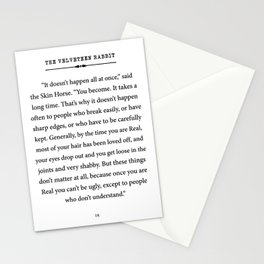 The Velveteen Rabbit ~ You become Real Stationery Cards