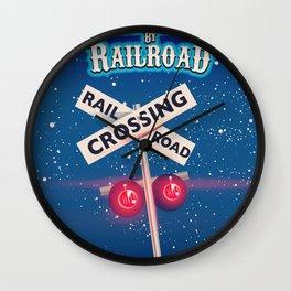 Baltimore Railroad travel poster Wall Clock