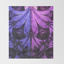 Beautiful Blue and Lilac-Violet Starling Feathers Throw Blanket
