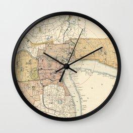 Vintage Map of Shanghai China (1918) Wall Clock