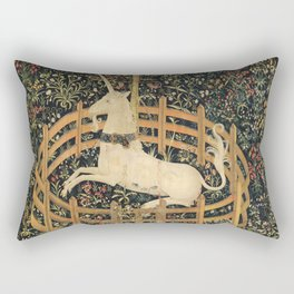 The Unicorn In Captivity Rectangular Pillow