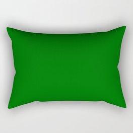color dark green Rectangular Pillow
