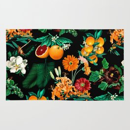 Fruit and Floral Pattern Rug