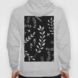 White Leaves Pattern #3 #drawing #decor #art #society6 Hoody