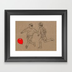 Footbal-oon Framed Art Print