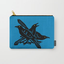 Grackles, the most diabolical birds, take over Austin, Texas Carry-All Pouch