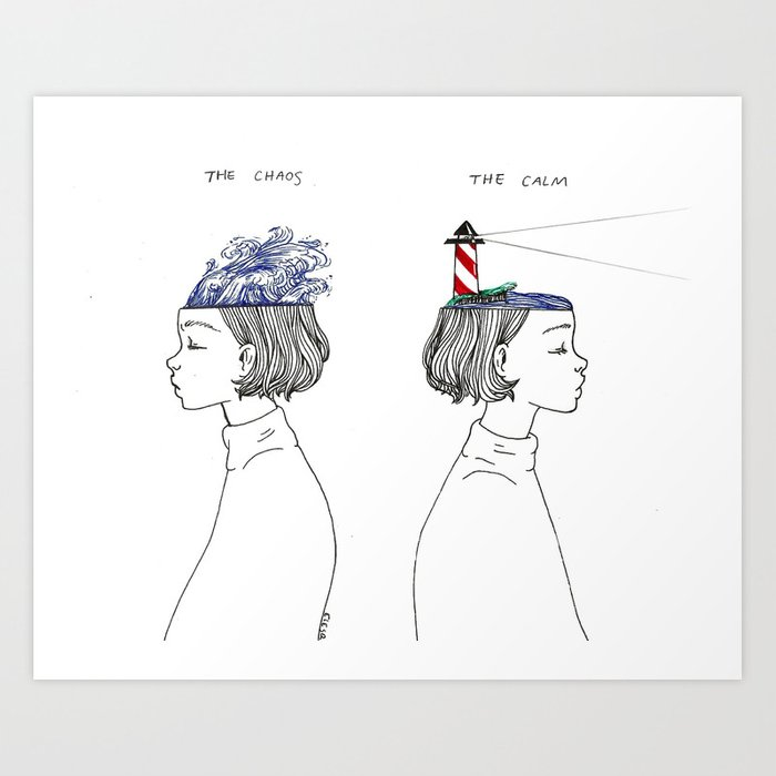 The Chaos and The Calm Art Print by elesq