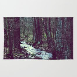 forest stream Rug