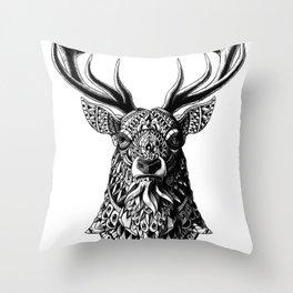 Ornate Buck Throw Pillow