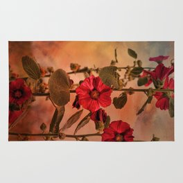 Mid-Summer Hollyhocks Rug