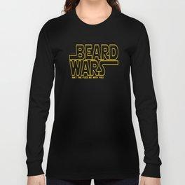 Beard Wars Funny Sci-Fi Design Long Sleeve T-shirt