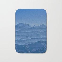 Blue Hima-layers Bath Mat