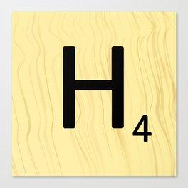 Scrabble H Decor, Scrabble Art, Large Scrabble Prints, Word Art, Accessories, Apparel, Home Decor Canvas Print