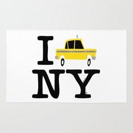 New York Yellow Cab logo Rug