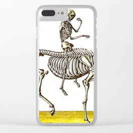 Horse Skeleton & Rider Clear iPhone Case