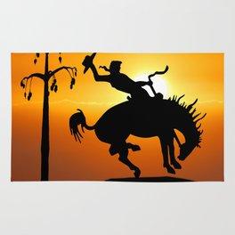 cowboy silhouette Rug