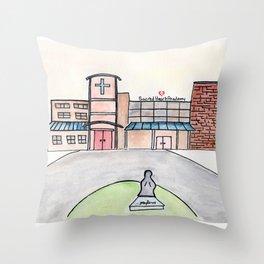 SHA Watercolor, Sacred Heart Academy, Louisville, KY Throw Pillow