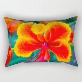 Peacock flower 3 Rectangular Pillow