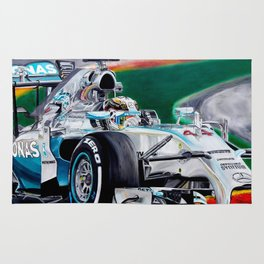"Lewis Hamilton ""Focus On Lewis"" Rug"
