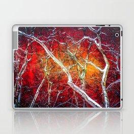 Red winter night Laptop & iPad Skin