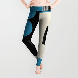 Abstract in Blue, Black, Red and Beige. See Companion Piece Leggings