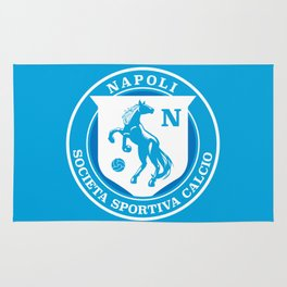 Naples Horse Football badge Rug