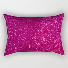 Glamours Fuchsia Glitter Rectangular Pillow