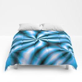 Windmills Sky Blue Pattern Comforters