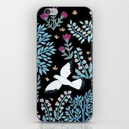 white birds garden iPhone Skin