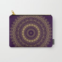 Harmony Circle of Gold on Purple Carry-All Pouch