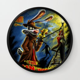 The Man Who Framed Me Wall Clock