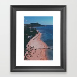 In The Sky Over Hawaii Framed Art Print