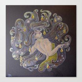 Pear Hair Canvas Print