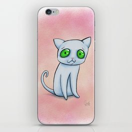 Ghost-cat iPhone Skin