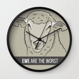 Ewe Are the Worst Wall Clock