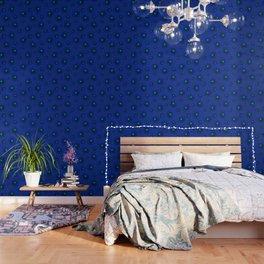 Blue Flowers Beautiful Pattern Wallpaper