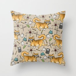 STEM Cats Throw Pillow