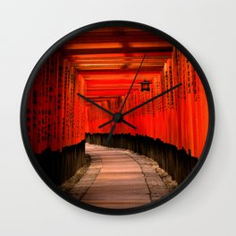Walk through the red path Wall Clock
