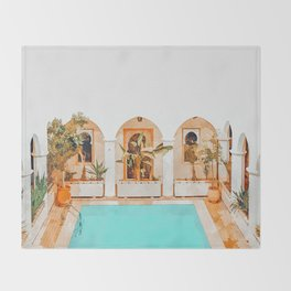 Turkish Holiday #painting #travel Throw Blanket