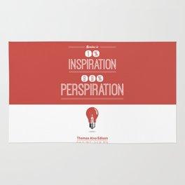 Lab No. 4 - Thomas Alva Edison Quote typography print Inspirational Quotes Poster Rug