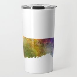 Dachshund Long Haired in watercolor Travel Mug