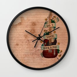 Do I Look Worried Wall Clock