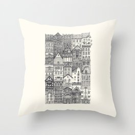 Crowded #4 Throw Pillow