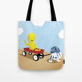 SW Kids - C3PO & R2D2 Red Wagon Tote Bag
