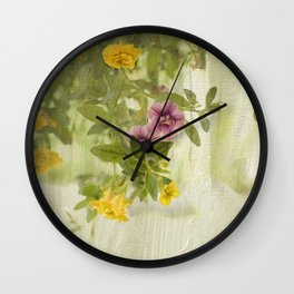 Lovely Calibrachoa Wall Clock
