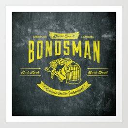 Beast Coast Bondsman (GOLD) Art Print