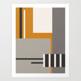 PLUGGED INTO LIFE (abstract geometric) Art Print